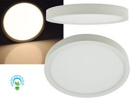 Aufbau LED Panel - Weiss rund 18W, 1400lm, ØxH 23x3cm, warmweiß