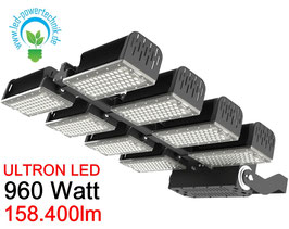 ULTRON LED Sportplatz & Universalleuchte 960W / 158.400lm / 3000K - 6500 K / IP66 /