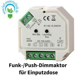 Sys-One Funk-/Push-Dimmaktor für Einputzdose 230V, 400W