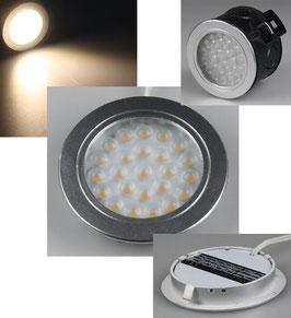 """LED-Einbauleuchte """"EBL-R60"""", warmweiß 2 Watt, 12V=DC , 3200K, 180 Lumen"""