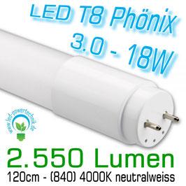 LED T8 Phönix 3.0 - 18W - 120cm, 840, 2.550lm, 4000K neutralweiss