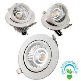 LED Eagle - Shop-Einbaustrahler, 35 Watt, 3500lm, schwenkbar, warmweiss