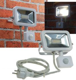 LED Außenstrahler - Fluter 10 Watt mit Bewegungsmelder,