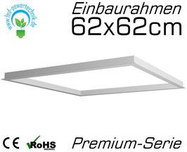 Einbaurahmen für alle 62x62cm LED Panele geeignet für Gipskarton- & Deckenausschnitte aus weiß lackiertem Aluminium