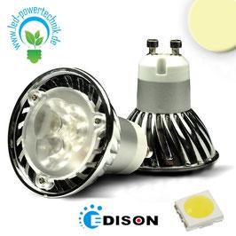 GU10 LED Strahler 3x1 Watt, Style 2, warmweiss
