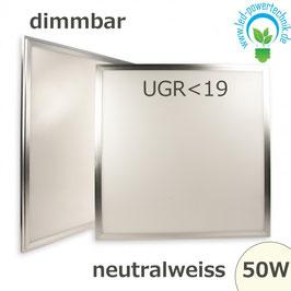 LED Panel 50W, 60x60cm, diffuse UGR<19, dimmbar neutralweiss, 4250lm