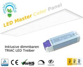 LED Master Color Panel weiss 30x120cm, 40W, UGR >19, 3000k bis 6000K wählbar, 4.000 lm, dimmbar, ultraflach, inkl. Netzteil,
