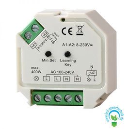 Sys-One Funk-Empfänger / Push-Dimmer, 400W, 230V