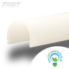 Abdeckung rund, milky für Profil XWAY , L: 2000mm