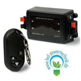 LED Dimmer 12-24V, inkl. FB, 8A