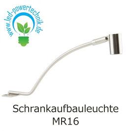 Schrankaufbauleuchte MR16, GU5.3, mattchrom