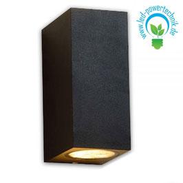 LED Wandleuchte Up & Down 2 x GU10, IP54, schwarz