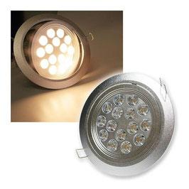 LED-Einbauleuchte, 7W, 560lm ALU, 4200K, 45°