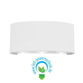 LED Wandleuchte Up&Down IP54, 6W CREE, weiss, warmweiss