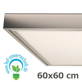 Aufbaurahmen für alle 60x60cm LED Panele aus silber lackiertem Aluminium