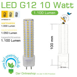G12 LED Leuchtmittel Fusion 3.0 MAX-S 10 Watt