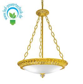 Deckenleuchte MILADY, 24 Karat Gold, Weiss, Ø50cm, Höhe 11cm, 4-flammig, E27