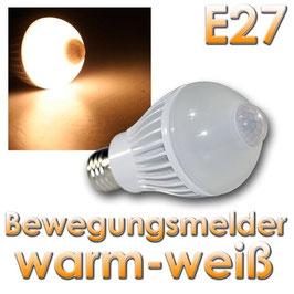 LED Birne E27 PIR5W warmweiß Bewegungsmelder 320lm