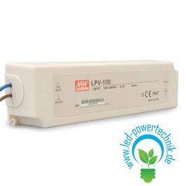 LED Trafo MW LPV 12V/DC, 0-100W, IP67