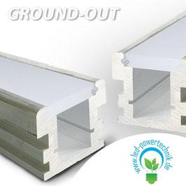 Montageprofil GROUND-OUT , befahrbar, Alu Natur L: 2000mm