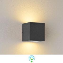 LED Wandleuchte IP44, GX53, anthrazit