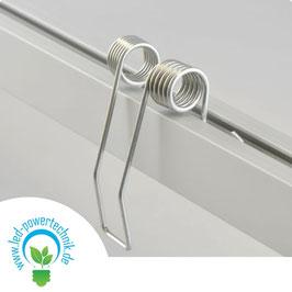 Einbaufeder für Kabelschleuse TUNNEL, Stahl, grau