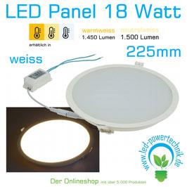 "LED Licht-Panel ""CP-225R"", Ø 225mm, IP54 230V, 18W, 1440 - 1500 Lumen,"