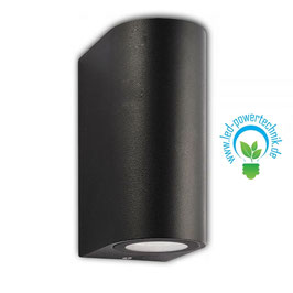 LED Wandlampe Up&Down IP54, GU10, schwarz