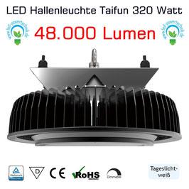 LED Taifun - dimmbare Hallenleuchte 320W, 48.000lm, 150lm/W, 120°, tageslichtweiß, IP65, 5 Jahre Garantie,