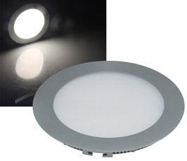 LED Panel Alu - Grau rund 10W, 750lm, 180mm, neutralweiß dimmbar