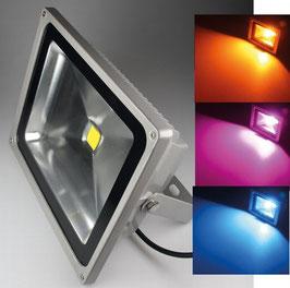 LED RGB Außenstrahler - Fluter 50 Watt IP44, 230V, RGB mit Fernbedienung