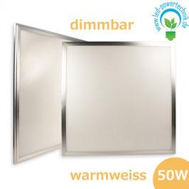 LED Panel 600x600 diffuse, 50 Watt, Rahmen silber, warmweiss, dimmbar