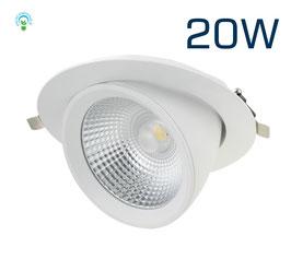 LED Einbaustrahler Fusion 3.0 - 20 Watt CRI>80 / 140mm / bis 2.100lm