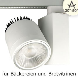 3-PH Schienen-Strahler Bread Light, 40W, 30°-50°, weiss matt