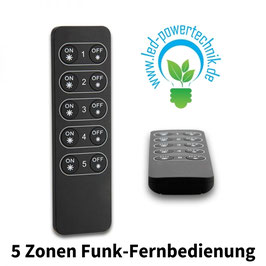 Sys-One single color 5 Zonen Funk-Fernbedienung, schwarz