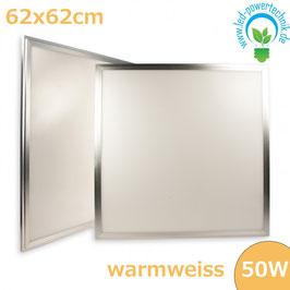 LED Paneel 625x625 diffuse, 50W, Rahmen silber, warmweiss