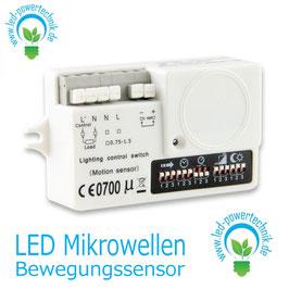 LED Mikrowellen-Bewegungssensor 5,8 GHz mit StandBy, 230V, 800W