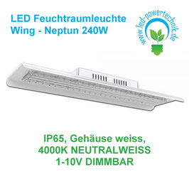 LED Feuchtraumleuchte Wing - Neptun 240W / 31.000lm / neutralweiss / 1-10V dimmbar