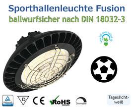 LED Sporthallenleuchte Fusion / 80 Watt | 13.500 lm | tageslichtweiß - 5700 K | IP65 | IK08 | dimmbar