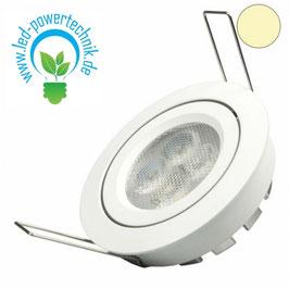 LED Einbaustrahler, weiss, 8W, 72°, rund, warmweiss, dimmbar