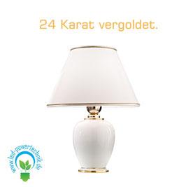 Tischleuchte GIARDINO, 24 Karat Gold, Höhe 34 - 24 Karat Gold, Ø25cm, 1-flammig, E27
