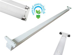 LED T8 Röhren - Doppel Halterung - Aluminium weiss 150cm IP20