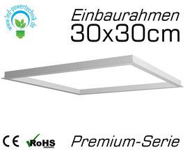 Einbaurahmen Premium für alle 30x30cm LED Panele geeignet für Gipskarton- & Deckenausschnitte aus weiß lackiertem Aluminium