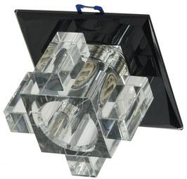 """Decken-Einbaustrahler """"Crystal G9"""" starr, 90x90mm, Sockel G9, schwarz"""