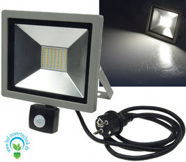 LED Slim Line Fluter 30 Watt mit Bewegungsmelder, IP44, 230V