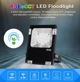 LED RGB-WW Outdoor Fluter 10W / 1.000lm über Fernbedienung & WLAN steuerbar *** Schutzklasse IP65