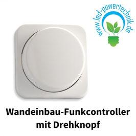 Sys-One 1 Zone Wandeinbau-Funkcontroller mit Drehknopf, weiss, Batteriebetrieb