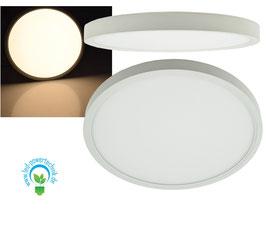 Aufbau LED Panel weiss rund 24W, 1.920lm, ØxH 30x3cm, warmweiß
