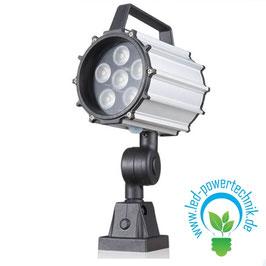 LED Spot - Maschinenleuchte 10W | 24V | schwenk- und drehbar | 850 lm | 5500 - 6000 K tageslichtweiß | IP65