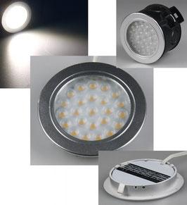 """LED-Einbauleuchte """"EBL-R60"""" kaltweiß 2 Watt, 12V=DC , 6000K, 180 Lumen"""